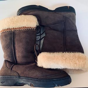 Ugg Ultimate Cuff Boots in Chocolate